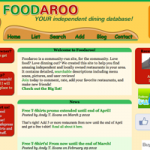Foodaroo: Your dinning database!